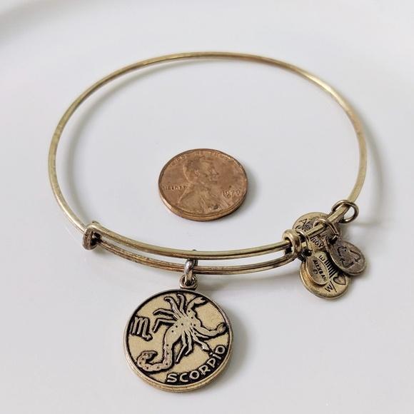 Alex & Ani Rafaelian Gold Zodiac Scorpio Bracelet